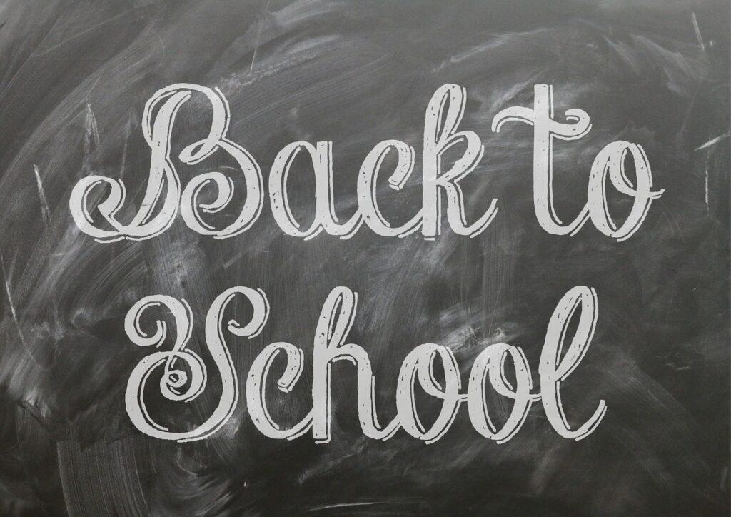 back to school, poster, blackboard